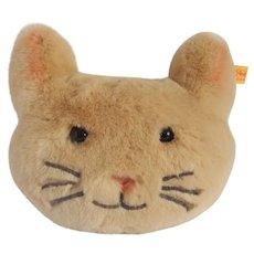 Steiff Cat Kitten Head Shaped Plush Pillow