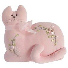 Pink Stuffed Cat Pillow