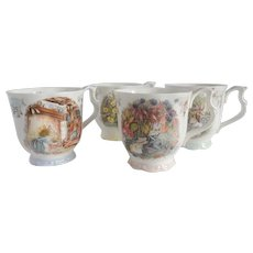 Four Royal Doulton Brambly Hedge Mugs