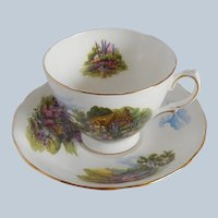 Royal Vale Thatched Country Cottage Cup and Saucer