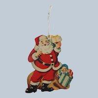 Santa Claus Cardboard Christmas Ornament