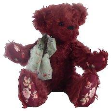 Ginny Kenney Maroon Teddy Bear