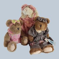 Two Boyds Bears and a Bunny