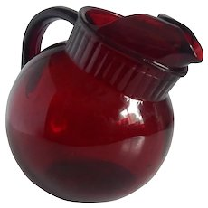 Anchor Hocking Royal Ruby Tilted  Pitcher