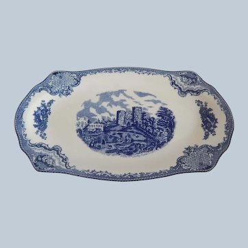 Johnson Brothers Old Britain Castles Blue Sandwich Tray