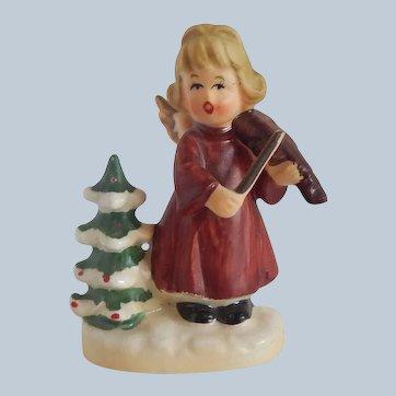 Napcoware Angel Girl with Violin Figurine