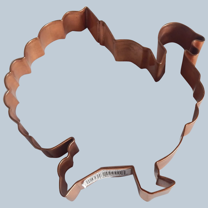 Large Old River Road Copper Turkey Cookie Cutter Colemans Collectibles Ruby Lane