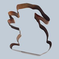 Large Old River Road Bunny Rabbit Copper Cookie Cutter