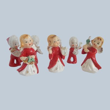 Seven Christmas Holiday Figurines