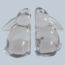 Silvestri Crystal Bunny Rabbits Bookends
