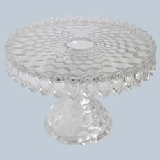 Fostoria American Crystal Pedestal Cake Stand
