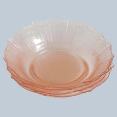 Four Pink MacBeth Evan American Sweetheart Cereal Bowls
