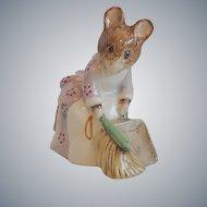Royal Albert Beatrix Potter Hunca Munca Sweeping Figurine