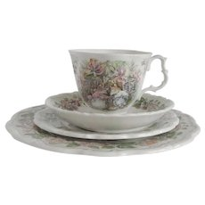Royal Doulton Brambly Hedge Summer Cup Saucer Two Plates