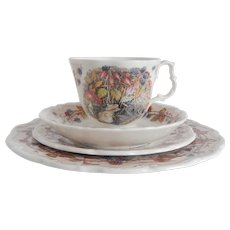 Royal Doulton Brambly Hedge Autumn Cup Saucer Two Plates