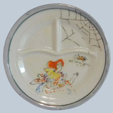 Ceramic Little Miss Muffet Child's Toy Divided Plate