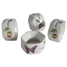 Handpainted Ceramic Ardalt Napkin Rings