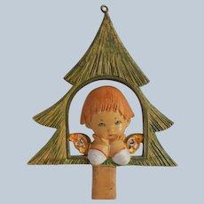 Fontanini Depose Italy Christmas Ornament Angel In Tree