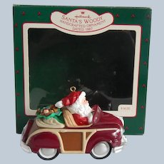 Hallmark Santa's Woody 1987 Ornament
