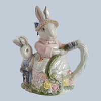 Fitz & Floyd Bunny Hollow Teapot