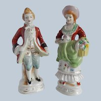 Made In Occupied Japan Colonial Man and Woman  Figurines