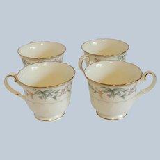 Four Noritake China Brookhollow Cups
