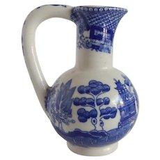 Blue Willow Vinegar Cruet
