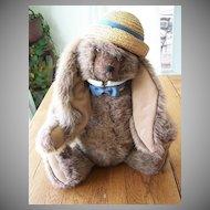 Mohair Rabbit Signed Lynn Haney