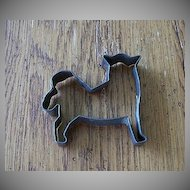 Early  Metal Dog Cookie Cutter