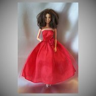Mattel Marie Osmond Doll In Red Vintage Gown