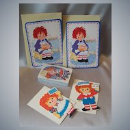 Raggedy Ann Two Valentine Two Gift Cards and Playing Cards