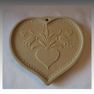 Brown Bag Cookie Art Folk Heart