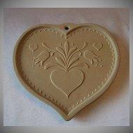 Brown Bag Cookie Art Folk Heart