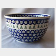 Boleslawiec Polish Pottery Mixing Bowl
