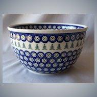Boleslawiec Polish Pottery Mixing Bowl