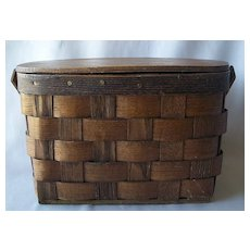Basketville Vermont Hand Purse Basket