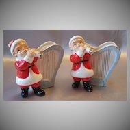 Two Vintage Santa Claus Vase / Planter