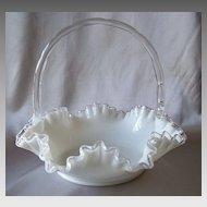 Fenton Art Glass Silver Crest Basket
