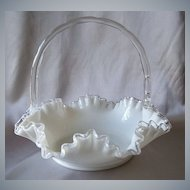 Fenton Art Glass Silver Crest Basket