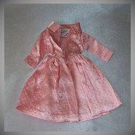 Barbie Pink Satin Silver Glitter Dots Coat 1963