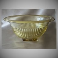 Federal Glass Amber Mixing Bowl