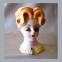 Vintage Velco Lady Head Vase