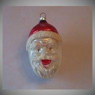 West Germany Santa Head Christmas Ornament