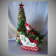 Vintage Santa Claus With Sleigh