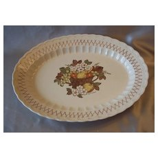 Metlox Pottery Vernon Ware Fruit Basket Platter