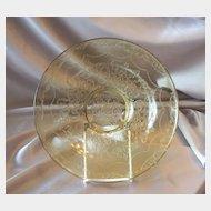Depression Amber Madrid Glass Console Bowl