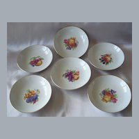Six  Hutschenreuther Selb LHS Bavaria Germany Fruit Bowls