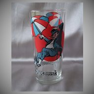 Pepsi Penguin Super Series Promotional Glass