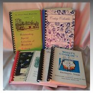 Six Spiral Bound Cookbooks