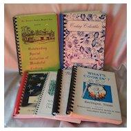 Six Spiral Bound Cookbooks